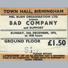 Bad Company Ticket