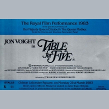 Table For Five Film Premiere Ticket