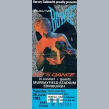 David Bowie Ticket