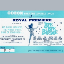 Bye Bye Birdie Film Premiere Ticket