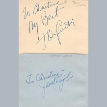 Tony Curtis & Jane Leigh