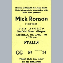 Mick Ronson Ticket