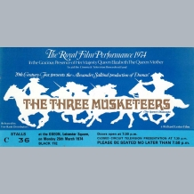 The Three Musketeers Film Premiere Ticket