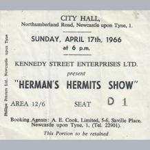 Hermans Hermits Ticket