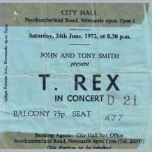T Rex Concert Ticket