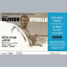 Laurence Olivier Film Premiere Ticket