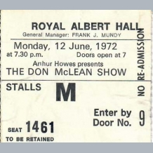 Don McLean Ticket