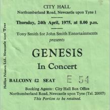Genesis Ticket