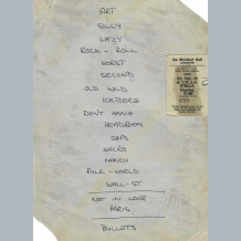 10CC Set List