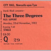 Three Degrees Ticket