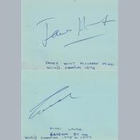 James Hunt & Niki Lauda