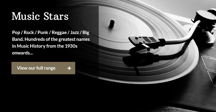 Pop / Rock / Punk/ Reggae / Jazz / Big Band. Hundreds of the greatest names in Music History from the 1930s onwards...